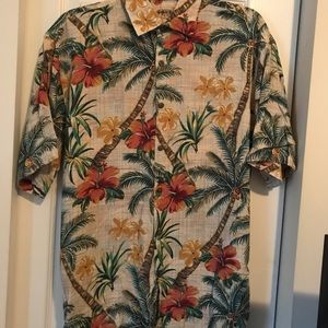 Men's shirt short sleeves tropical print
